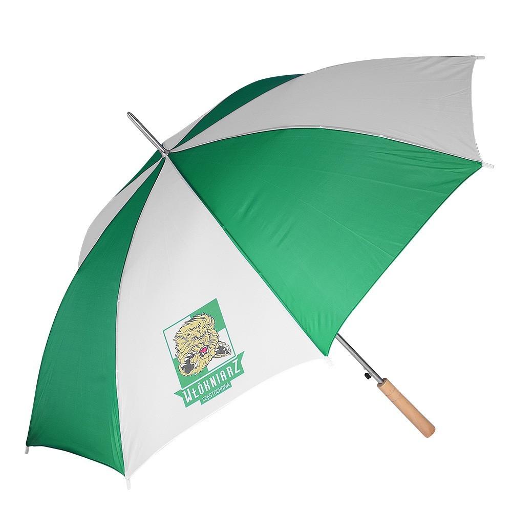 Parasol Biało - Zielony