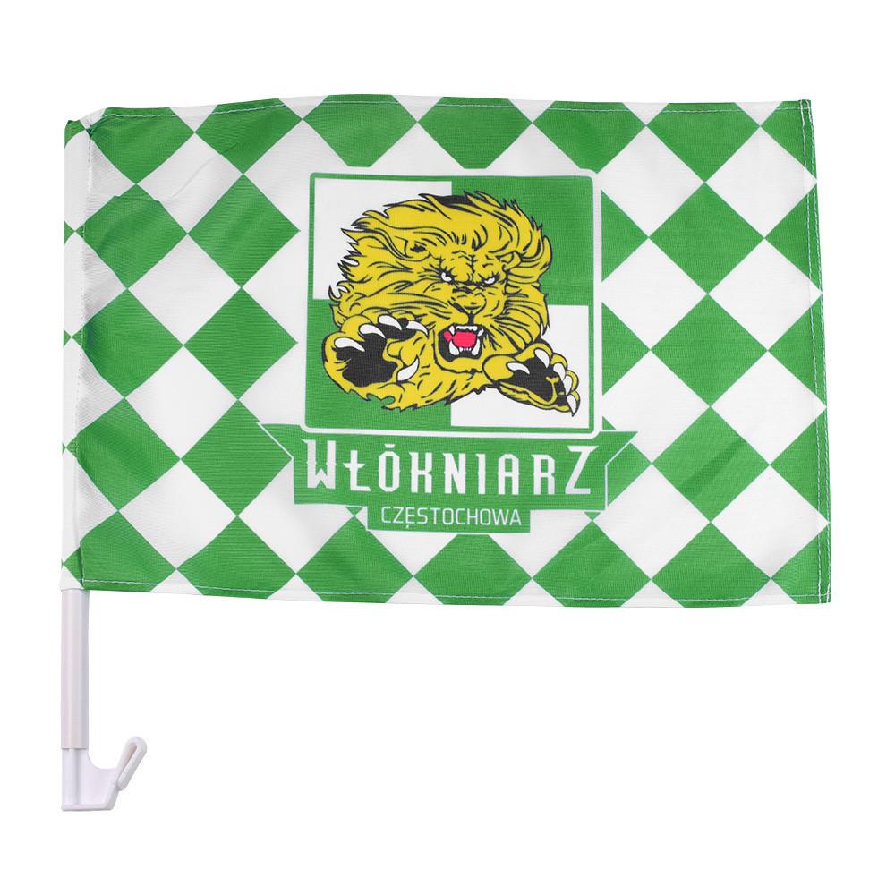 Flaga samochodowa Włókniarz